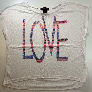 Material Girl | White Medium LOVE Top